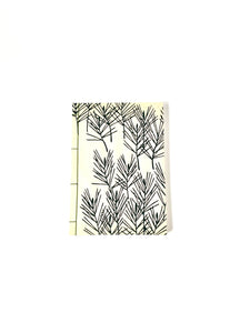 Japanese Washi Hand Printed Notebook A5 Bamboo - 和綴じノートA5 竹