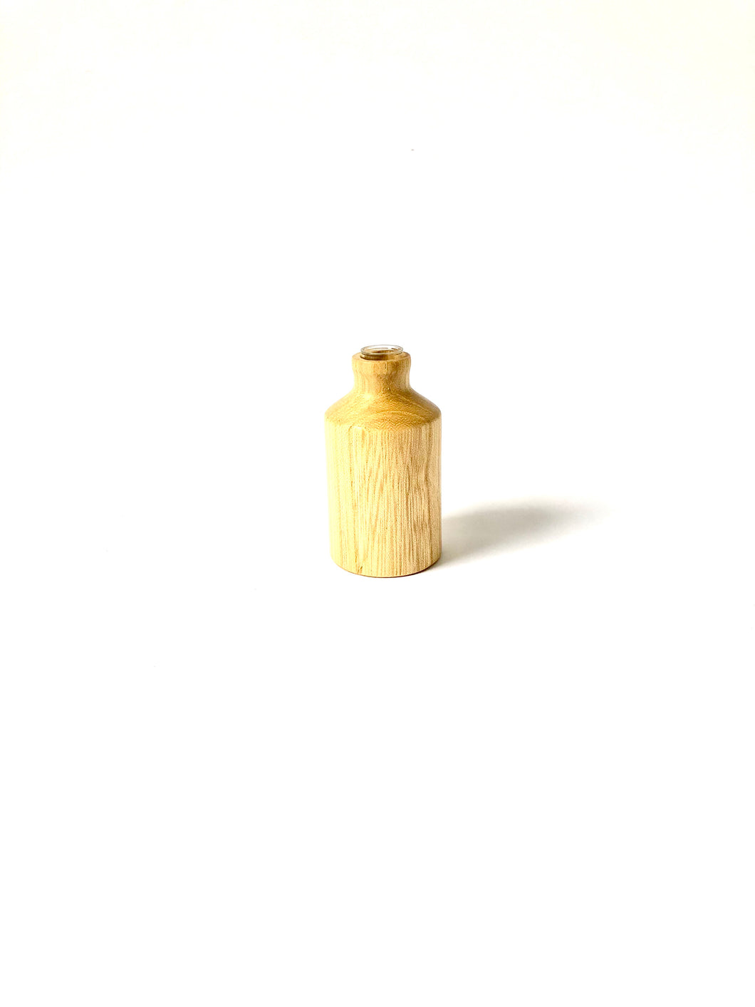 Japanese Handcrafted Wooden Miniature Vase Castor Aralia Tree