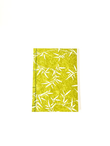 Japanese Washi Hand Printed Notebook A5 Bamboo Leaf - 和綴じノートA5 笹