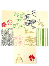 Load image into Gallery viewer, Japanese Washi Hand Printed Postcard Green Bamboo Leaf - 和紙絵ハガキ 笹/若竹