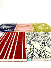 Load image into Gallery viewer, Japanese Washi Hand Printed Notebook A6 Pine - 和綴じノートA6 松