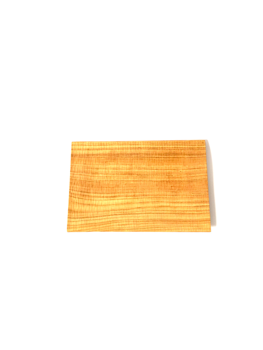 Japanese Handcrafted Wooden Rectangular Plate Cherry - 桜の角皿 27cm x 18cm