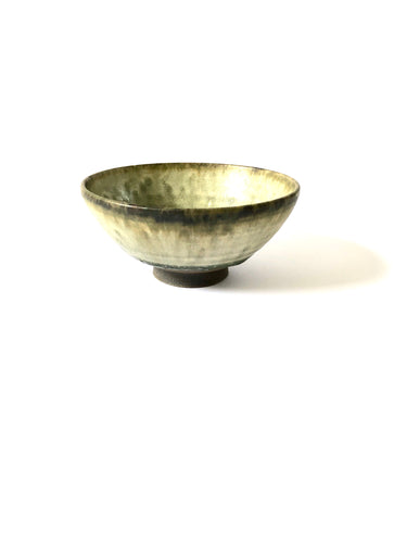 Japanese Ceramic Ash Glazed Rice Bowl - 彩色灰釉飯碗