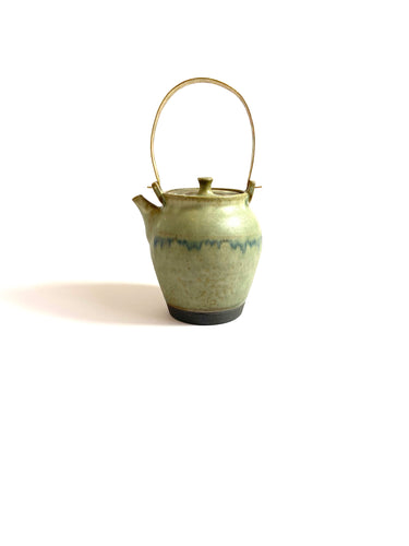 Japanese Ceramic Ash Glazed Dobin Tea Pot - 彩色灰釉土瓶
