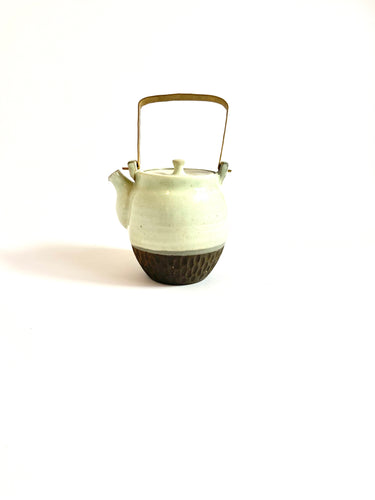 Japanese Ceramic Dobin Tea Pot Uroko