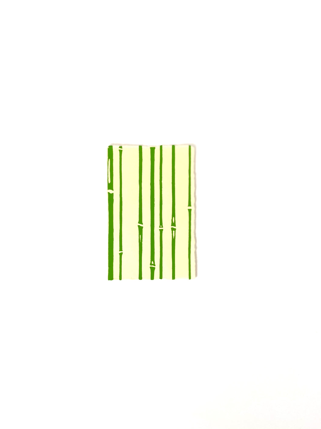 Japanese Washi Hand Printed Postcard Green Bamboo - 和紙絵ハガキ 竹/若竹