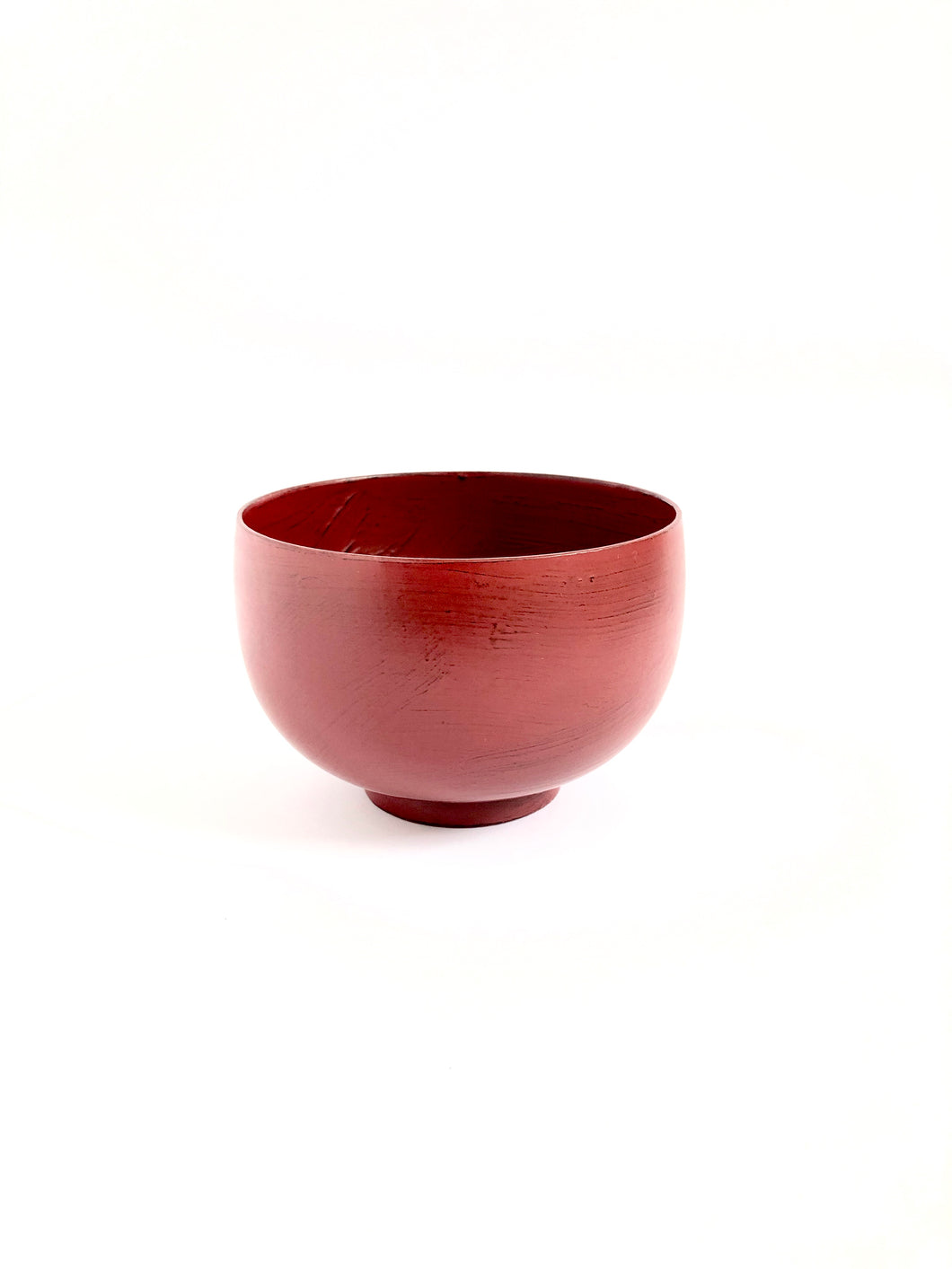 Japanese Lacquered Rounded Miso Soup Bowl