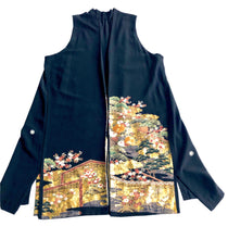 Load image into Gallery viewer, Vintage Japanese Silk Handmade Kimono Jacket