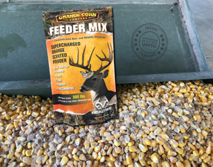 Realtree Orange Corn Feeder Mix - TREATS UP TO 300 LBS -  FREE SHIPPING AVAILABLE