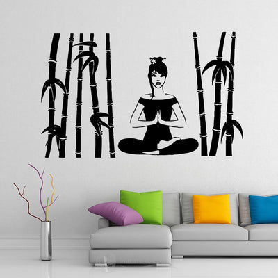 Sticker Bambou Yoga Zen