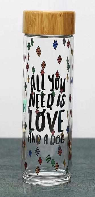 Bouteille en Bambou | Collection LIFE STYLE-All You Need Is Love And A Dog-Nature & Bambou