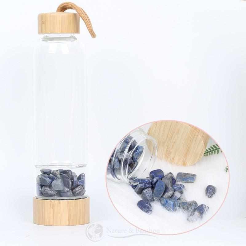 Bouteille en Bambou | Collection QUARTZ-Lapis-Lazuli-Nature & Bambou