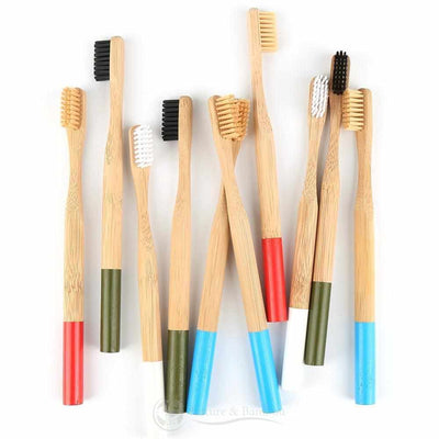 Brosse à Dents en Bambou | Poils MEDIUM-Nature & Bambou