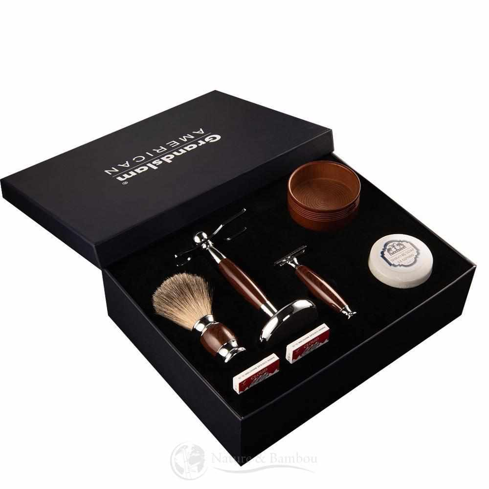 Coffret Kit de Rasage Vintage-Kit Plus Marron-Nature & Bambou