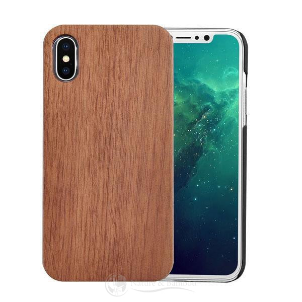 Coque pour Iphone en Bois Walnut-Iphone X-Nature & Bambou