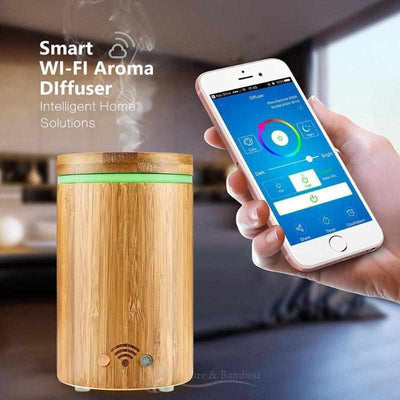 Diffuseur d'Huile Essentielle WIFI-application-Nature & Bambou