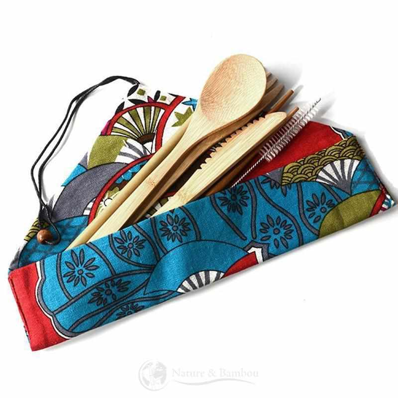 Kit de Couverts en Bambou | EKNA Design-Nature & Bambou