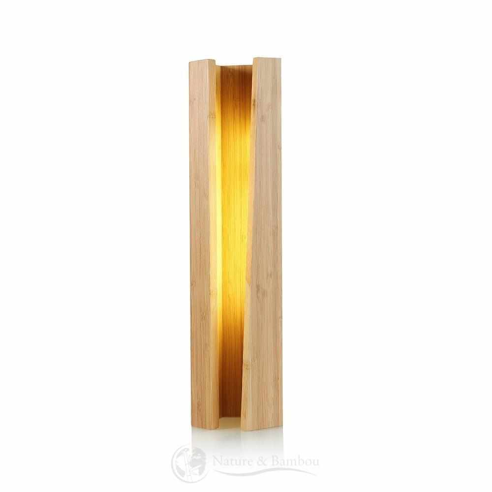 Lampe LED en Bambou-Nature & Bambou