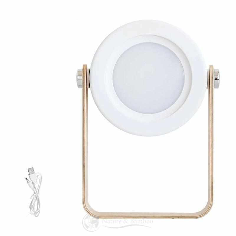 Lampe Réversible en Bambou | JAPAN Design-Blanc-Nature & Bambou