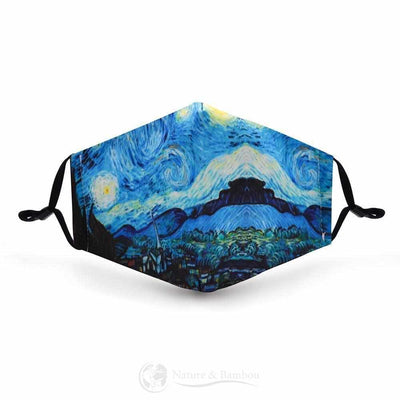 Masque de Protection Réutilisable Art Design-Art Design-Nature & Bambou