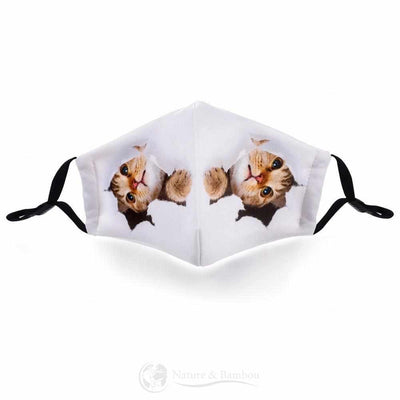 Masque de Protection Réutilisable Chaton-Chaton-Nature & Bambou