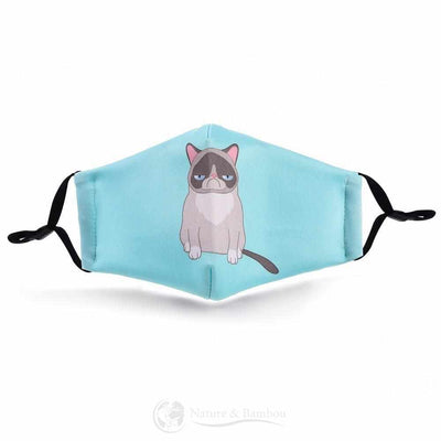 Masque de Protection Réutilisable Lazy Cat-Lazy Cat-Nature & Bambou