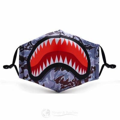 Masque de Protection Réutilisable Requin-Requin-Nature & Bambou