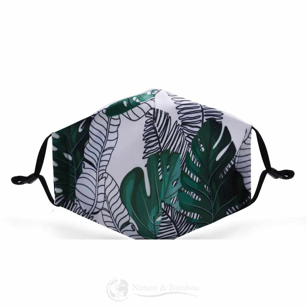 Masque de Protection Réutilisable Tropical Leaf-Tropical Leaf-Nature & Bambou