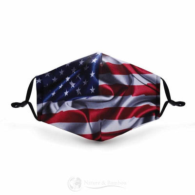 Masque de Protection Réutilisable U.S.A-U.S.A-Nature & Bambou
