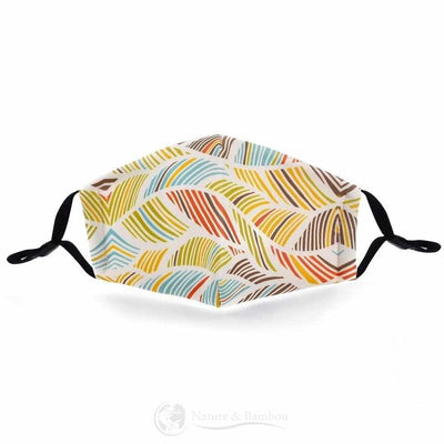 Masque de Protection Réutilisable Wave Leaf-Wave Leaf-Nature & Bambou