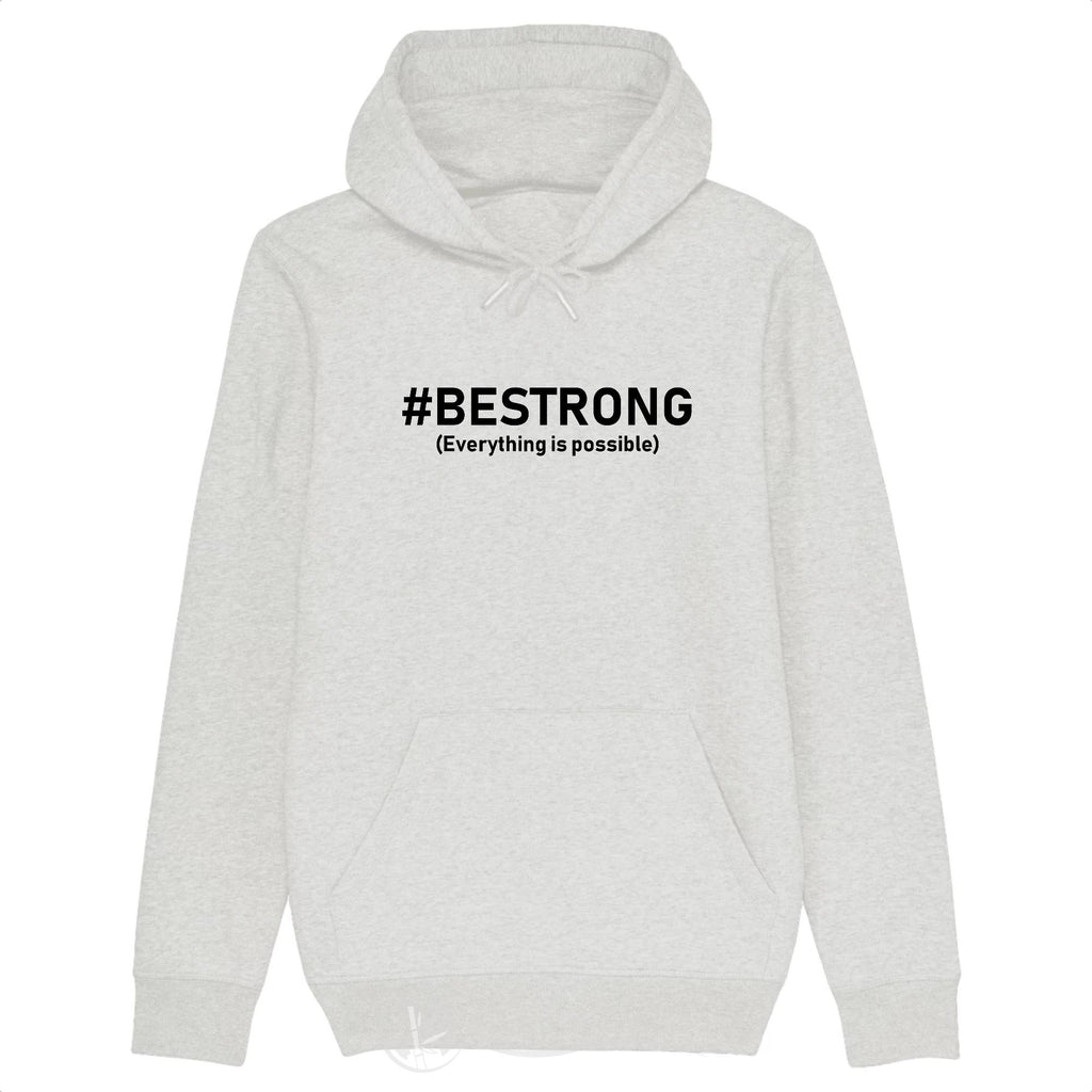 Sweat Bio - Be Strong-Blanc Chiné-XS-Nature & Bambou