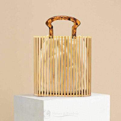Sac Bucket en Bambou VINTAGE Light-Sans Pochette-Nature & Bambou