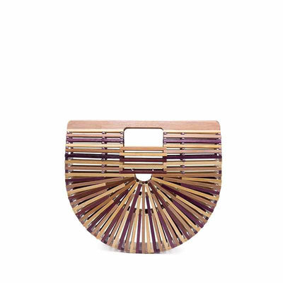 Sac Demi-Lune en Bambou COVERSLIP Colors-Coffee-Nature & Bambou