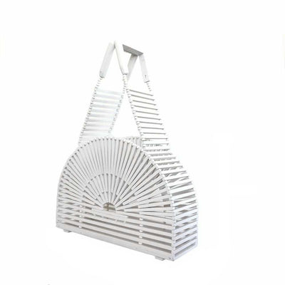 Sac Demi-Lune en Bambou TRENDY White-Nature & Bambou