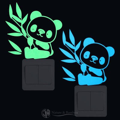 Sticker Bambou Mini Panda Fluorescent