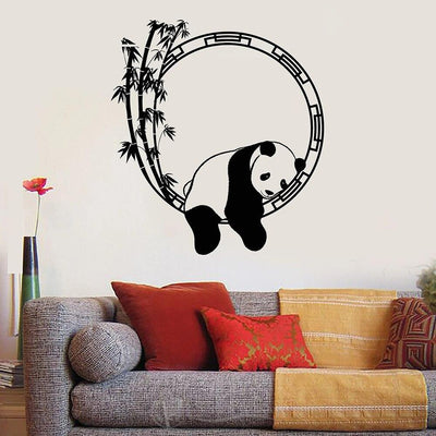 Sticker Bambou Panda Détente