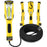GearIT LED COB Work Light 1200 Lumen - Extra Long 16 Gauge SJTW Indoor/Outdoor Extension Cable, Yellow - GearIT