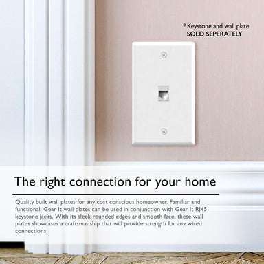 GearIT (10-Pack) Keyston Wall Plate, Cat6, Cat5e, Ethernet Wall Plate, 1 to 4-Port - www.gearit.com