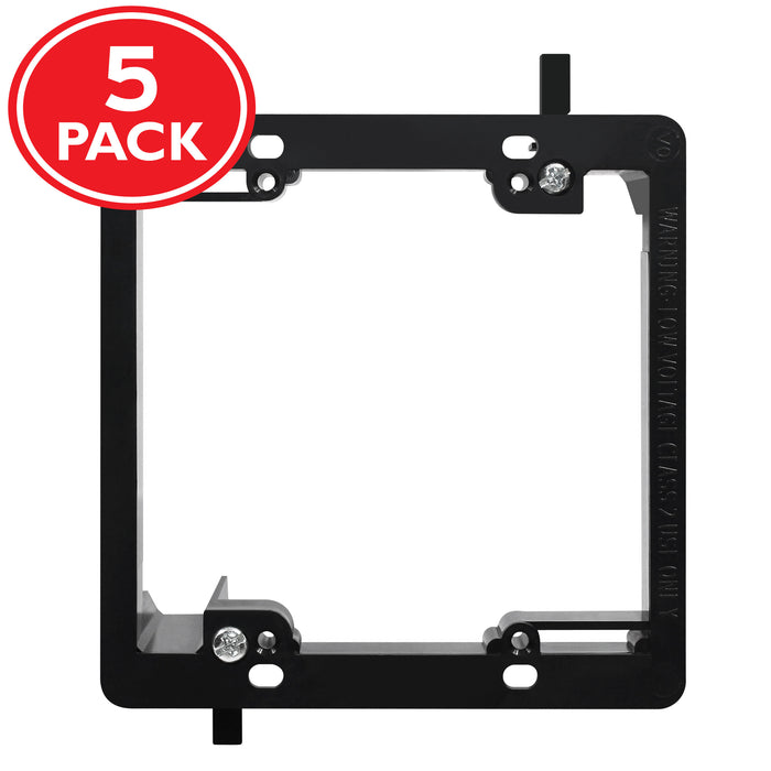 GearIT (2 Gang) Low Voltage Mounting Bracket, Multipurpose, Drywall Mounting