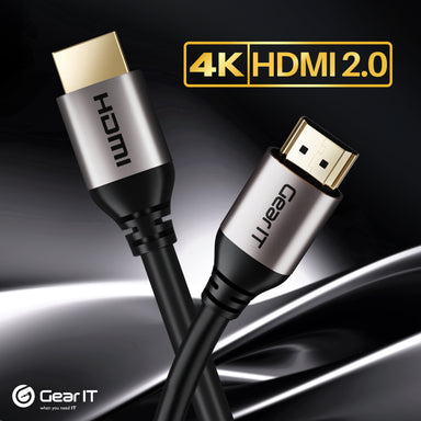 GearIT 4K HDMI Cable CL3 Rated - HDMI 2.0b - 4K@60hz, Black - GearIT
