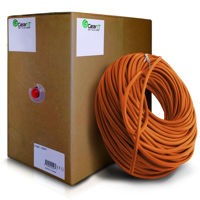 GearIT 1000 Feet Bulk, Cat6 Ethernet Cable, 550Mhz, 24AWG, Full Copper Wire, (Stranded), CM In-Wall Rated, UTP, Pull Box - www.gearit.com
