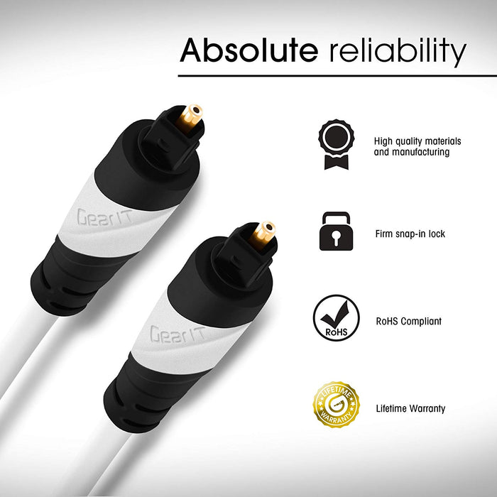 GearIT Toslink Digital Optical Audio Cable - www.gearit.com