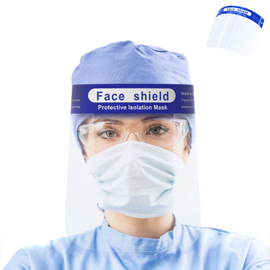 Safety Full Face Shield, Anti-Fog PET, Reuseable Windproof Dustproof Protective Lightweight Transparent Visor Cover with Fit Adjustable Elastic Band - www.gearit.com