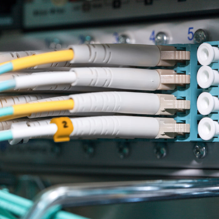 GearIt Fiber Patch Cable, LC to LC, Multimode OM3, 10GB, 50/125, OFNR Riser, Duplex - www.gearit.com