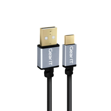 GearIT USB-C Cable, USB Type-C to USB-A 2.0 Male, Fast Charging USB Type-C to Type-A - www.gearit.com