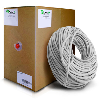 GearIT 1000 Feet Bulk, Cat6 Ethernet Cable, 550Mhz, 23AWG, Solid Copper Wire, (CMR) Riser Rated, UTP, Pull Box - www.gearit.com