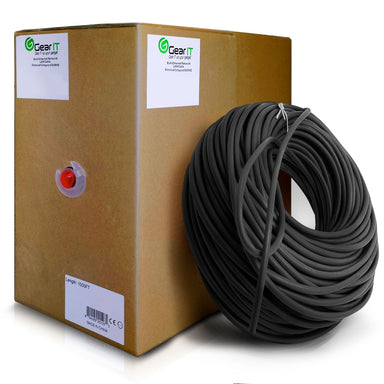 GearIT 1000 Feet Bulk, Cat6 Ethernet Cable, 550Mhz, 23AWG, Solid Bare Copper Wire, (CMP) Plenum Rated, UTP, Pull Box