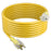 GearIT 12/3 Outdoor Extension Cord 100 Feet - SJTW - Weather Resistant - 12 Gauge 3 Prong, Yellow - GearIT