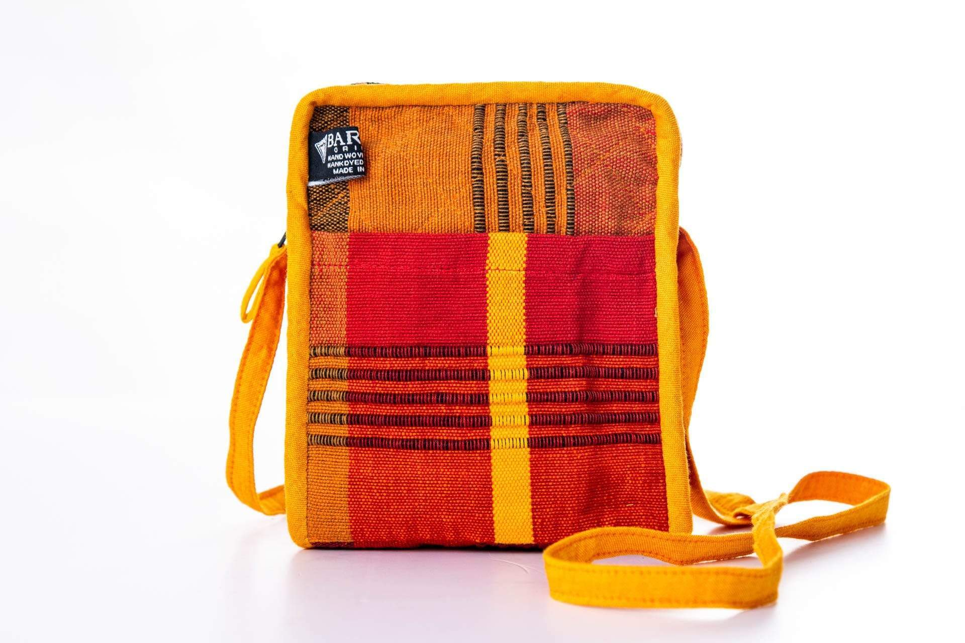 sustainable ethical handmade handloom slow-fashion Chootie Mini Crossbody Bag | Coral made in sri lanka