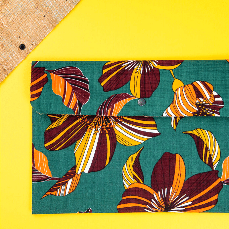 sustainable ethical handmade handloom slow-fashion Colorful Upcycled Waterproof File Folders made in sri lanka